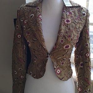 Vintage Arden B $148 Embroidered Silk Blazer